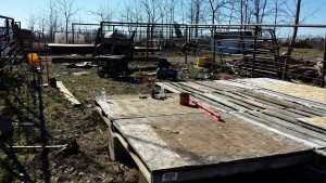 Starting our Chicken Coop Floor