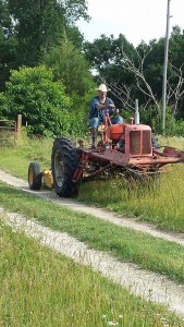 Mowing with Old Tractor