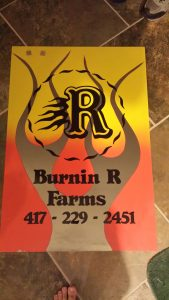 Burinn R Farms Sign